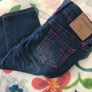 New true religion jeans 12 months fuschia stitch
